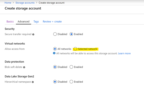 Securing Azure Storage